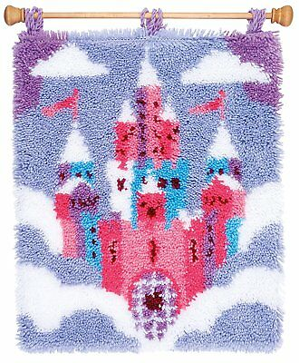 Fairytale Castle Latch Hook Kit Rug Making Kit by Vervaco 43x51cm Printed canvas