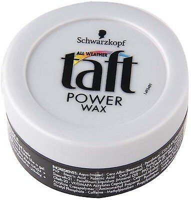 Schwarzkopf Professional Hair Styling Power Wax for Natural Flowing Hold (75ml)