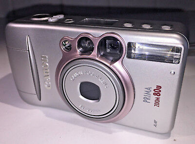Canon Prima Zoom 80u compact for 35mm film, with case & FILM