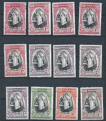 """TONGA-TOGA: 1918 - 1943 """"QUEEN SALOTE"""" 'SILVER JUBILEE of ACCESSION' MINT & USED"""
