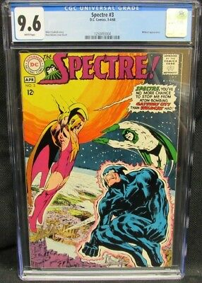 Spectre #3 (1968) Neal Adams Cover Wildcat Appearance CGC 9.6 White Pages CV769