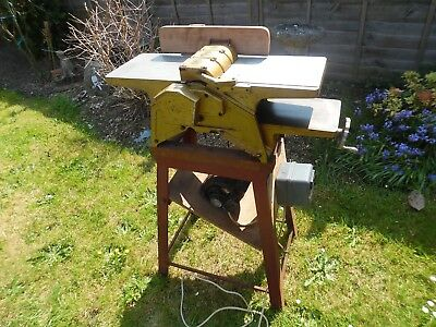 """Thickness Planer (""""M"""" logo) on Strong Metal Stand 2850rpm 240v Phase 1 50Hz"""