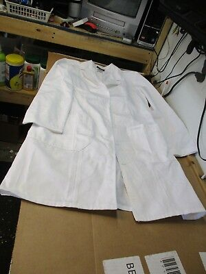 """Women's Cherokee Modern Classic 36"""" Lab Coat 2319 Whtc White Med Fast Shipping"""