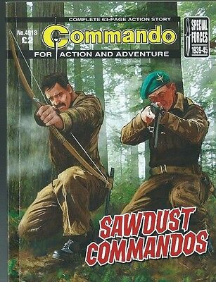 Sawdust Commandos,commando For Action And Adventure,no.4913,war Comic,2016