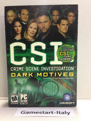 Csi: Crime Scene Investigation Dark Motives - Pc Computer Videogioco - Nuovo New