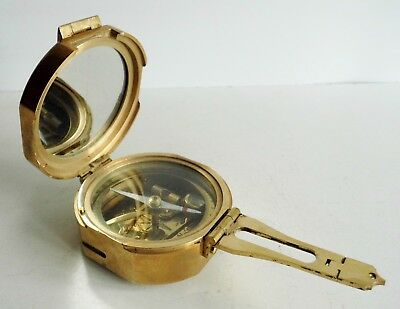 INTERESTING OLD STANLEY of LONDON BRASS NAUTICAL MARINERS COMPASS - EX CONDITION