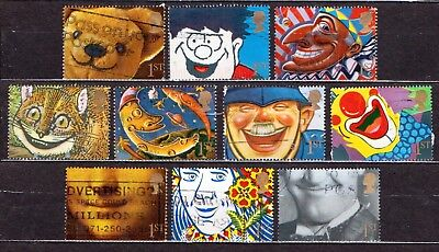 QEII 1991 Greetings stamps Smiles (1st) used set (j185)