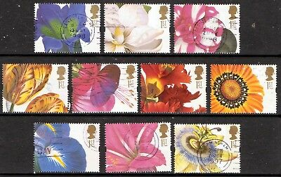 QEII 1997 Greetings stamps Flowers used set (j187)