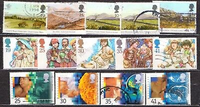 QEII 1994  3 used Commemorative sets (j244)