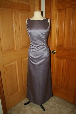 Satin A-Line Mob/mother Bride/groom Dress Size 16 Lavender