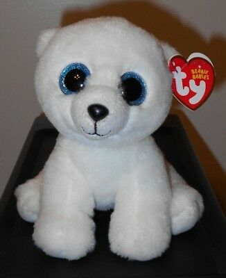 CT* Ty Beanie Baby ~ ARCTIC the Polar Bear ~ MINT with CREASED TAG