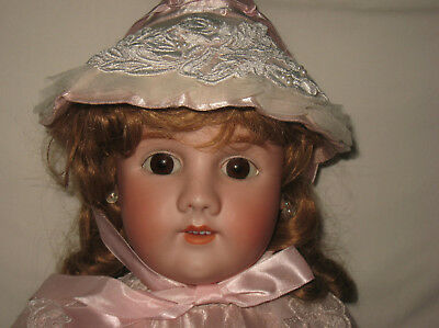 "Antique 31"" Heinrich Handwerck / Simon & Halbig Bisque Socket Head Doll MB3"