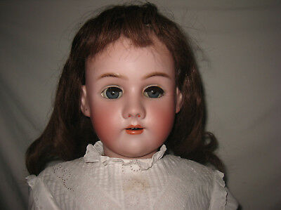 "Antique 32"" Heinrich Handwerck / Simon & Halbig Bisque Socket Head Doll MB5"