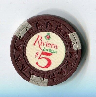 """+++++++++++++++++ $$$ Old 1968 Riviera $5 Vegas Casino Chip  Rated """" Q """""""
