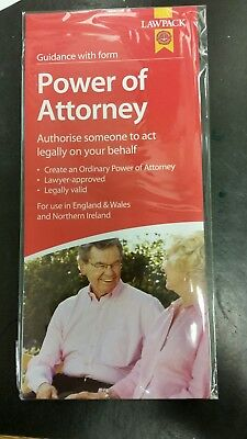 Lawpack Power Of Attorney form (valid for use in  England, Wales and NI)