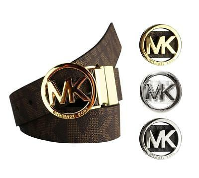 NEW Michael Kors Women's Signature Reversible Circle MK Logo Belt 551342