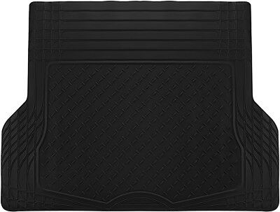 1pc Black All Weather Heavy Duty Rubber Trunk Liner Universal Car SUV Truck Van