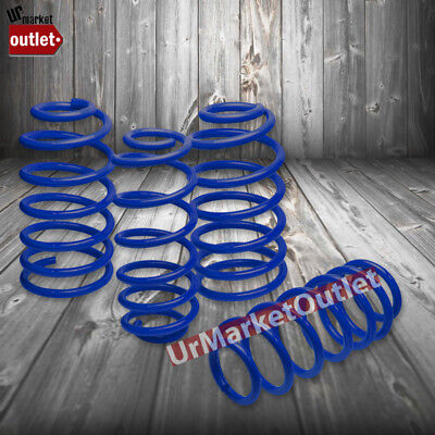 "Blue 1.7"" Drop Race Sport Lowering Spring Coil Kit For 97-03 Pontiac Grand Prix"