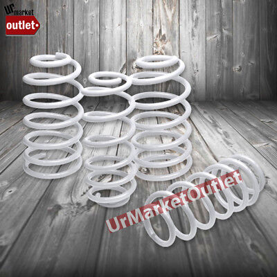 "White 1.7"" Drop Race Sport Lowering Spring Coil Kit For 97-03 Pontiac Grand Prix"