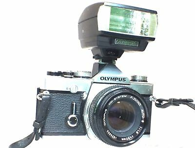 OLYMPUS OM-1 N SLR Camera With Olympus F.Zuiko 50mm f/1.8 OM Mount Lens - N37