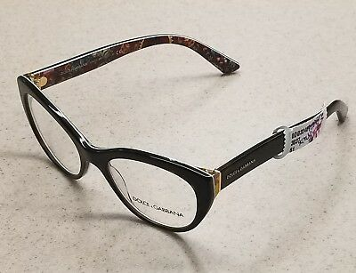 2f12ed953cf Dolce   Gabbana DG 3246 Eyeglasses Havana Multi Color 3037 (51mm) Authentic!