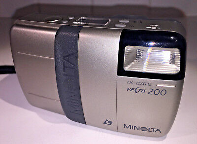 Konica Minolta Vectis 200 APS compact film camera from 1999, with manual & FILM