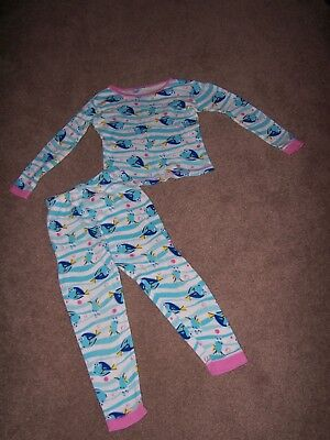 Carters Girls Size 6 Dory Long Sleeve Pajama Top & Bottoms VGUC