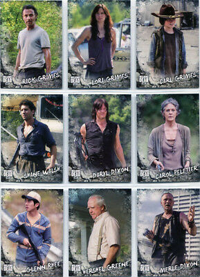 Walking Dead Road To Alexandria Characters Complete 20 Card Chase Set C-1 - C-20