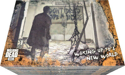 Walking Dead Road To Alexandria Rust Parallel Complete 100 Card Base Chase Set