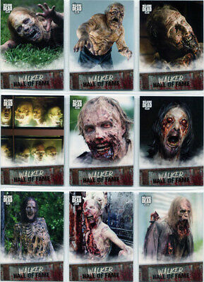 Walking Dead Road To Alexandria Walker Hall of Fame Complete 10 Card Chase Set