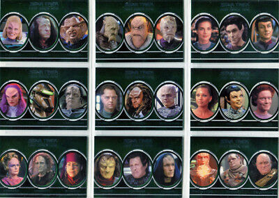 Star Trek DS9 Heroes & Villains Aliens Complete 9 Card Chase Set