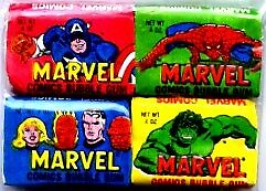 Marvel Comics 1979 Gum Set with all 4 Wrappers