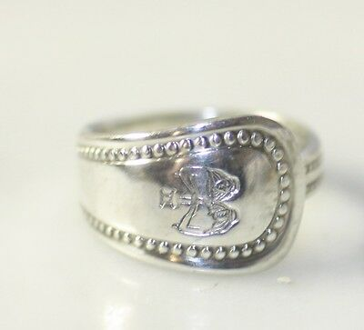 Vintage Silver Spoon Ring Marked