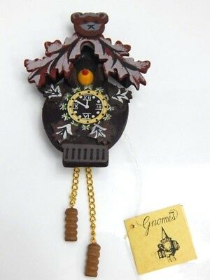 Nos Vintage 1970s Gnome Home Cuckoo Clock Miniature American Themes Wedding Gift