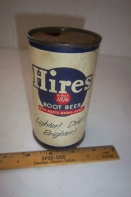 Hires Root Beer Flat Top Soda Can Since 1876 With Roots Barks Herbs Hires CA PA