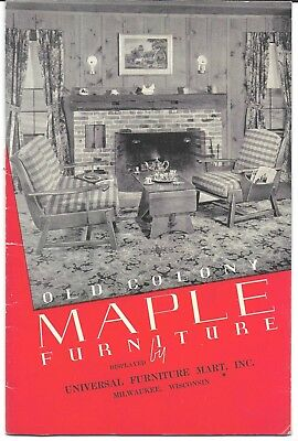"""1937 Heywood Wakefield """"Old Colony"""" Maple Furniture Sales Booklet"""
