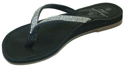 d5004ae5462 AMANDA BLU WOMEN S Shoes Black Bling Sandals Flip Flops -  29.95 ...