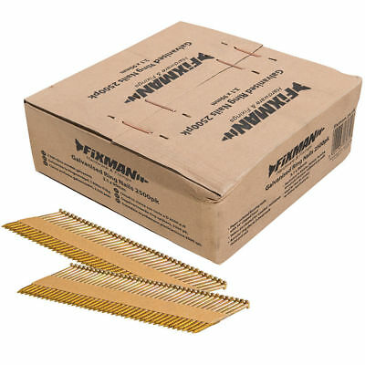 Fixman Collated Galvanised Ring Shank Framing Nails 34° 3.1mm x 90mm 2500 Pack