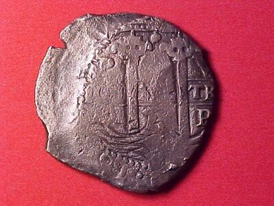 Bolivia Potosi Colonial 8 Reales Silver Cob 1679 (Sea Salvaged) 20 Grams