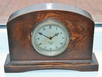 Vintage SMITHS MA Classic Car Dashboard Clock Mounted in an Oak Case - Working