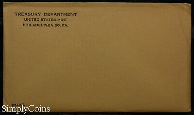 UNOPENED 1961 Proof Set ~ Original Envelope With COA ~ US Silver Mint Coin Set