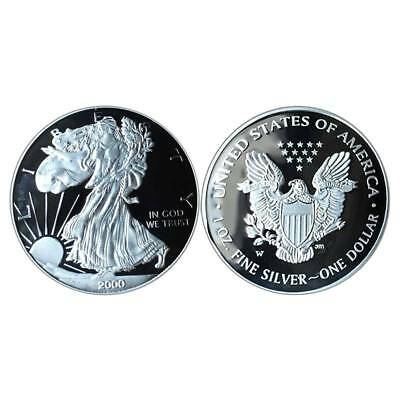 2000 Silver Statue of Liberty Commemorative Coin Crafts Gift Souvenir Stamp Coin