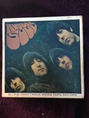 The Beatles twin track mono reel to reel tape Rubber Soul