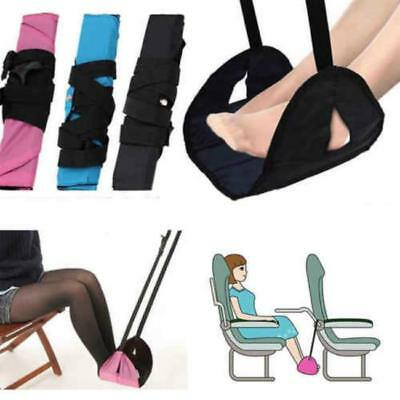 Portable Foot Rest Hammock for Airplane Bus Train Travel Footrest Accessories CB