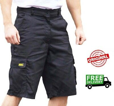 Mens MIG Cargo Work Shorts Size 30 to 42 COMBAT SHORTS in BLACK or NAVY MIG-500