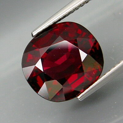 7.35Ct.Outstanding Color! Natural BIG Red Rhodolite Garnet Africa Good Cutting