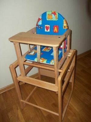 Feed me now Wooden High Chair Toddler Child's Table & Chair Boy Girl Highchair