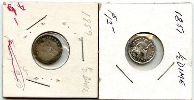 1851 & 1859 Seated Half Dimes From Collection!!!..starts @ 2.99