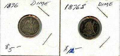 1876 & 1876-S Seated Dimes From Collection!!!..starts @ 2.99