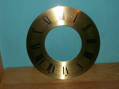 BRASS CHAPTER RING CLOCK FACE OR DIAL ROMAN BLACK NUMERALS 204mm